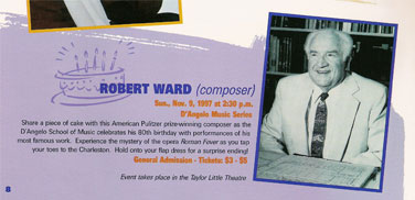 80th Birthday of Robert Ward